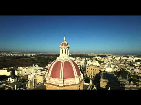 Zabbar town Malta- Parish church (Madonna tal-Grazzja) 4K