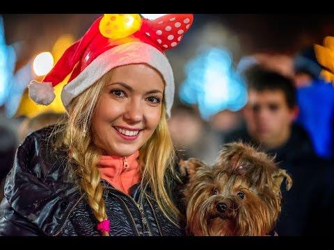 Оплошность на площади: два Путина! Как Севастополь Новый год отмечает. Крым 2017