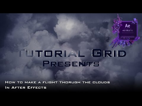 How to Create a Flying Through The Clouds Effect In After Effects Tutorial