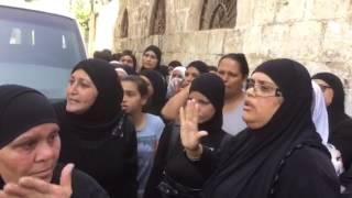 מחאת נשים בלוד בהלוויה של דועאא אבו שרך, 25.9.16
