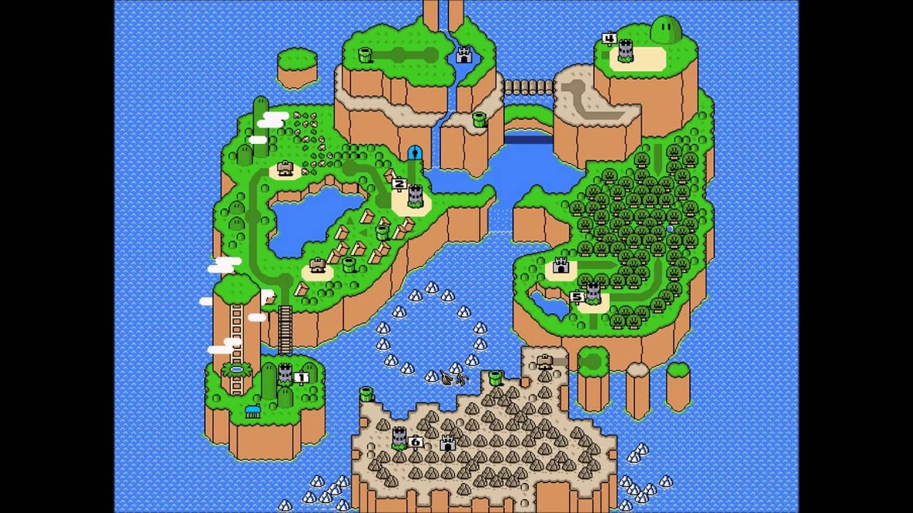 Super Mario World World Map YouTube