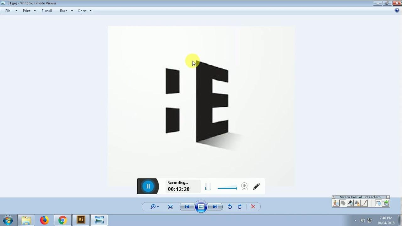 Adobe Illustrator, Ứng dụng các công cụ cơ bản để vẽ Logo đơn giản – Bài 2   Teach 2D