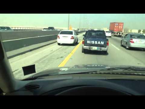 Traffic chaos Dammam-Jubail highway