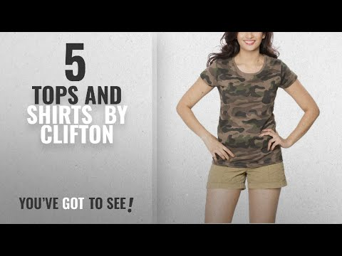 Top 10 Clifton Tops And Shirts [2018]: Clifton Womens Army T-Shirt R-Neck - Walnut