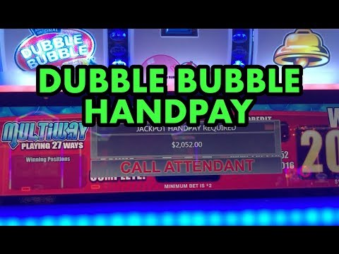 HIGH LIMIT JACKPOT HANDPAY on DUBBLE BUBBLE slot machine (partially muted)