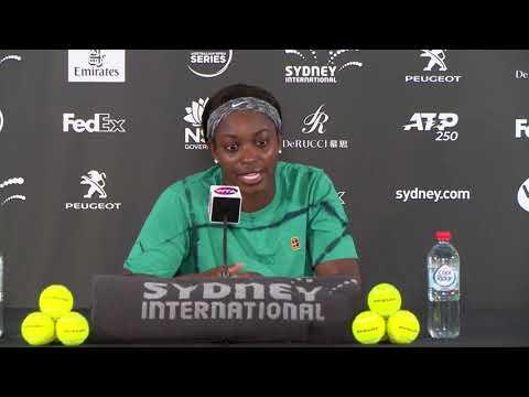 Sloane Stephens press conference (1R) | Sydney International 2019