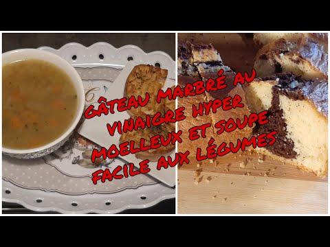 gÂteau-marbrÉ-au-vinaigre-hyper-moelleux-et-soupe-de-lÉgumes