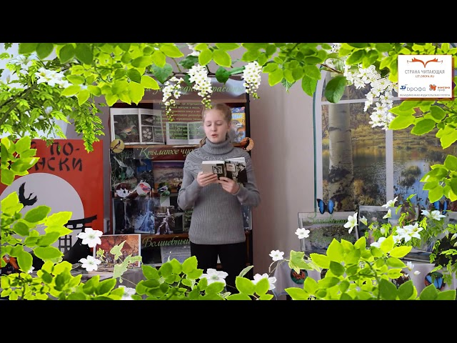 Изображение предпросмотра прочтения – АлександраРубец читает произведение «Сдобрым утром! (Задремали звёзды золотые…)» С.А.Есенина