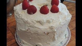 Triple Layer, Strawberry, Angel Food Cake!