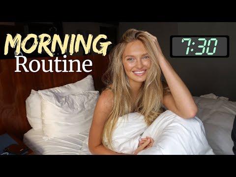 Model Morning Routine | Breakfast, Skincare, Hair | Romee Strijd