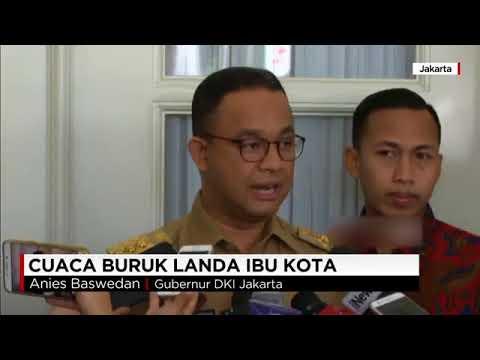 Gubernur Anies Baswedan Analisa Penyebab Banjir Jakarta