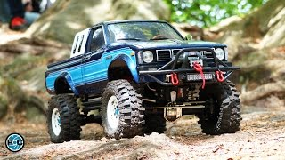 RC Scale Trucks Offroad Adventure Day Trip  🚩 Toyota Hilux - Land Rover Defender - Jeep Wrangler