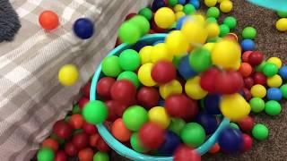 CADU ENSINANDO AS CORES EM INGLÊS learn colors with balls
