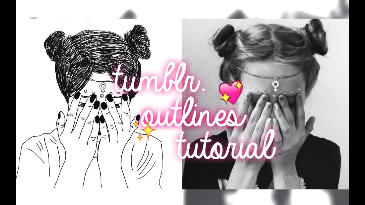Tumblr Outline Tutorial With Picsart Youtube