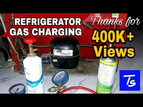 Refrigerator Gas Charging and fridge Repair. R134a Refrigerant . Whirlpool not cooling.