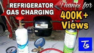 refrigerator gas charging and repair r134a refrigerant not cooling