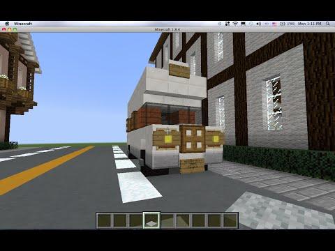 minecraftสอนสร้างรถบ้านขนาดเล็ก