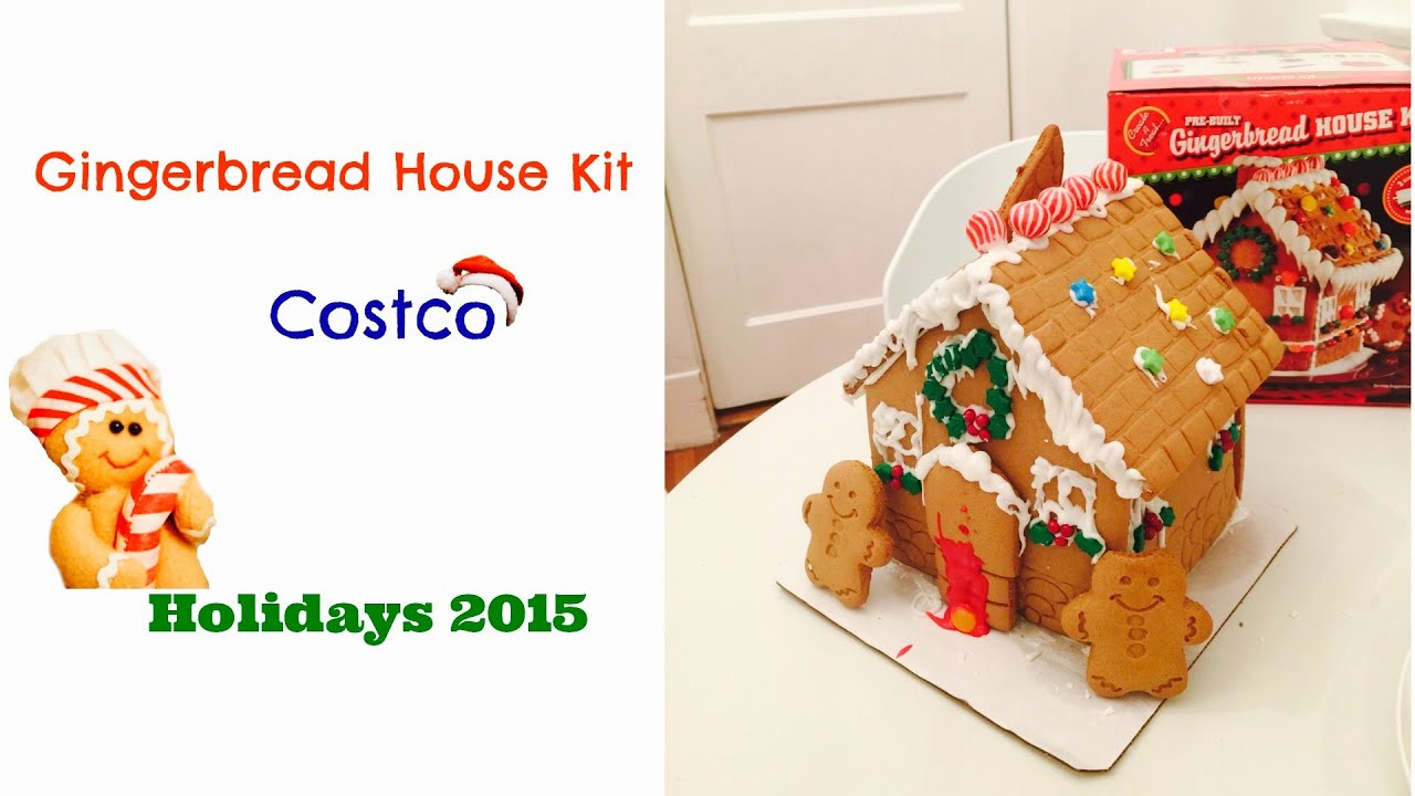 gingerbread house kits gingerbread house kit from costco unboxing amp decorating 12048