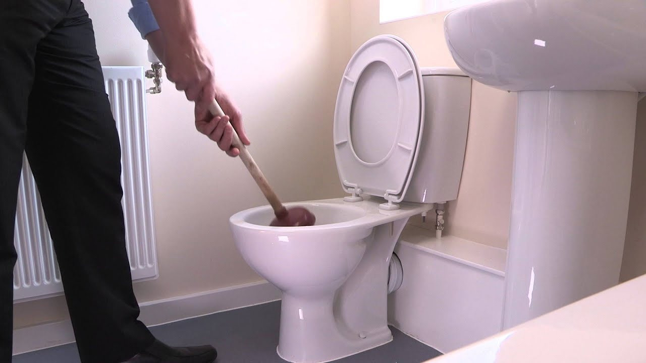 How to unblock a toilet - YouTube