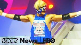Lucha Libre's Newest Pro Trump Villain  VICE News Tonight on HBO
