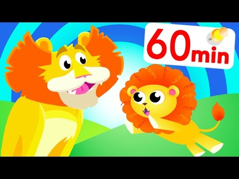 Sing with The Lion King, Zebra, Rhino, Tiger Boo Boo and Jungle friends by Little Angel