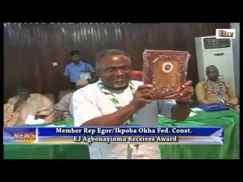 Member Representing Egor/Ikpoba Okha Fed. Const. EJ Agbonayinma Receives Award