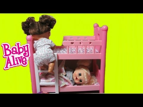 Thumbnail: BABY ALIVE Real Surprises Dolls Kara + Sophie sneak out of Bed Part 2 + Changing + Feeding Video