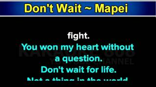 Don't wait ~ mapei karaoke version ~ karaoke 808