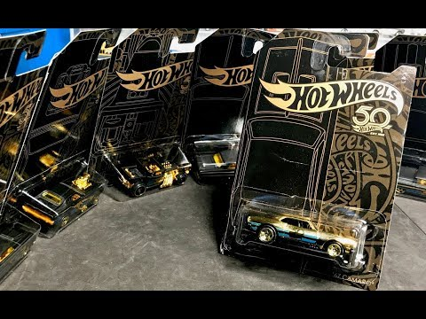 Lamley Preview: 2018 Hot Wheels Black & Gold 50th Anniversary Collection