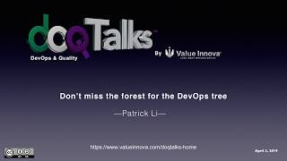 "DOQ Talks 2019: ""Don't miss the forest for the DevOps tree"""