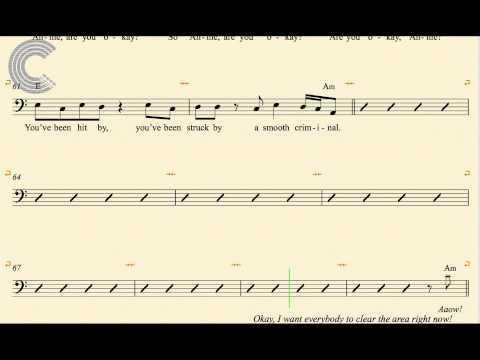 Tuba - Smooth Criminal - Michael Jackson - Sheet Music, Chords, & Vocals