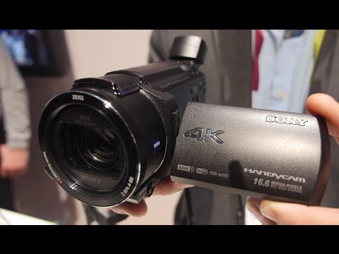 sony 4k camcorder. sony ax53 handycam 4k camcorder 4k