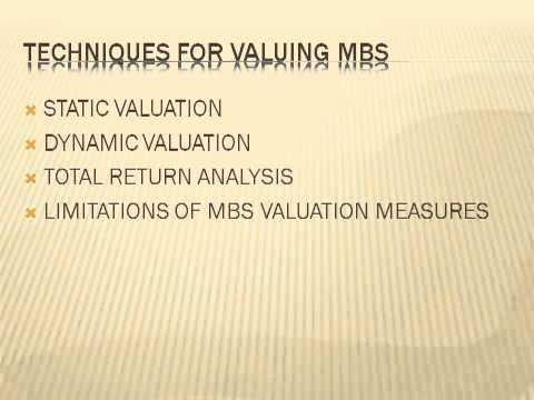 Techniques for valuing Mortgage Based Security (MBS)