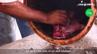 Una copita y con eso se quita; el Mezcal de Pechuga una gran tradición.
