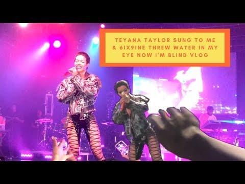 Teyana Taylor Sung To Me @ Her Concert & 6ix9ine Assaulted Me Vlog   Elijah Quinn