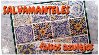 SALVAMANTELES FALSOS AZULEJOS | paso a paso