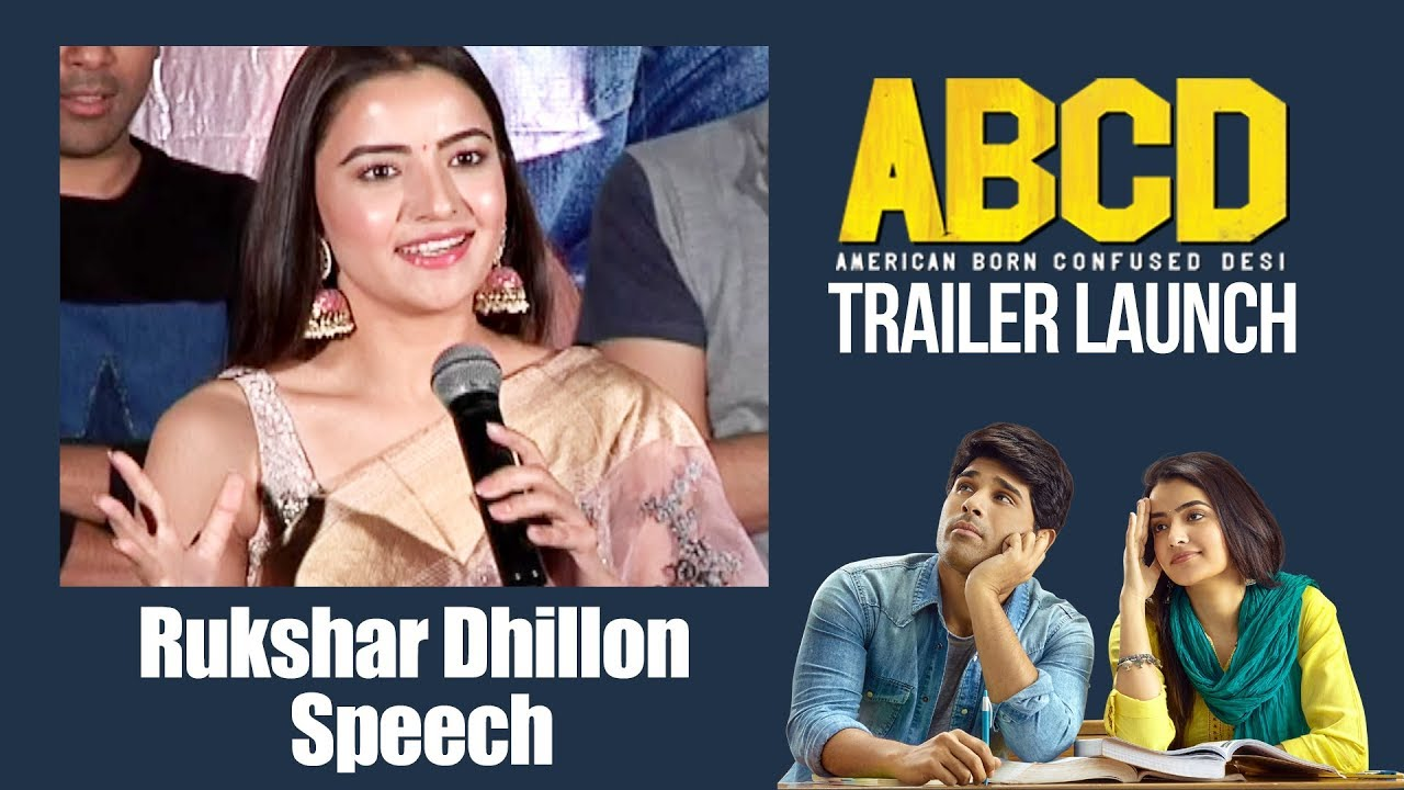 Rukshar Dhillon Speech | #ABCD Trailer Launch | Allu Sirish | Rukshar Dhillon