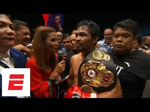 Manny Pacquiao vs. Defeats Lucas Matthysse By Tko In 7th Round Interview ESPN