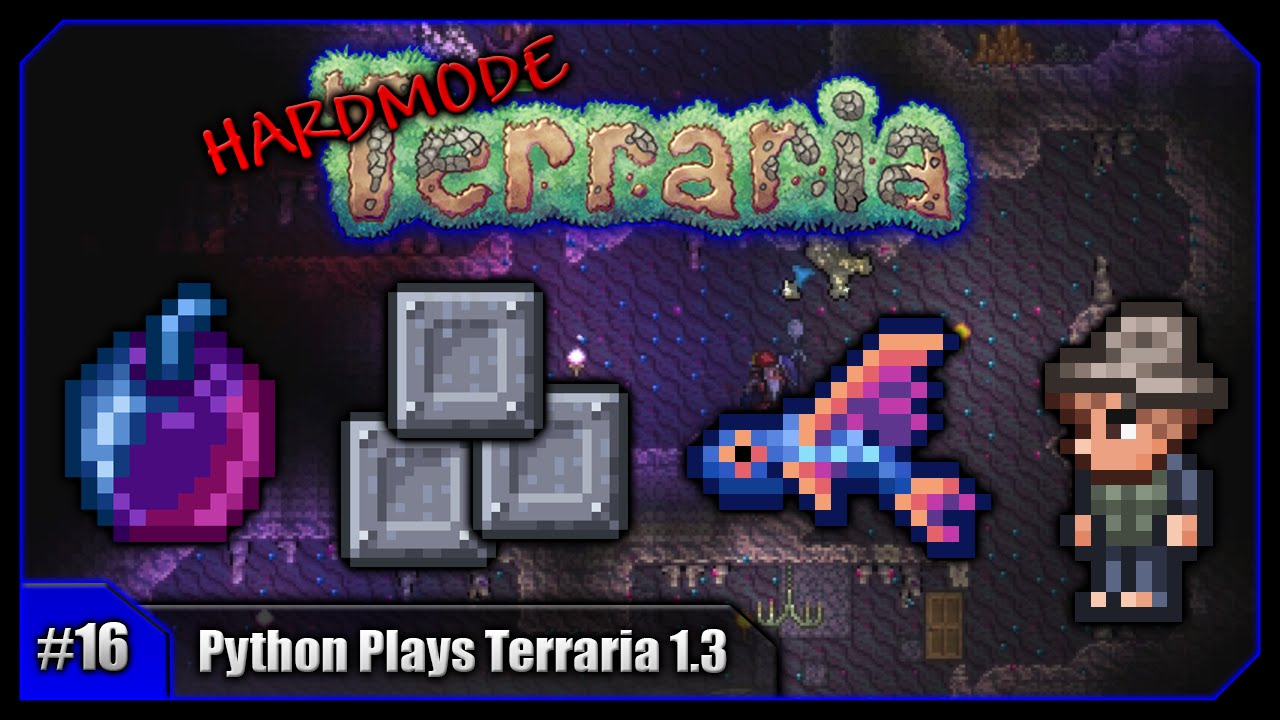 Python Plays Terraria Unicorn Mount Fishing Pets