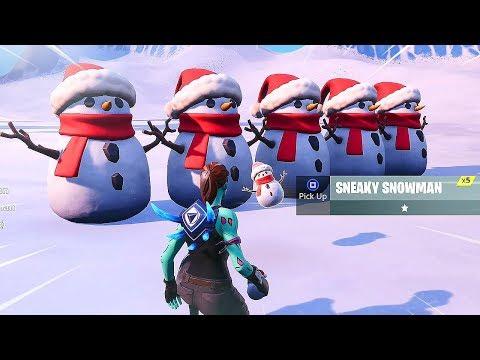 New SNEAKY SNOWMAN Gameplay in Fortnite..