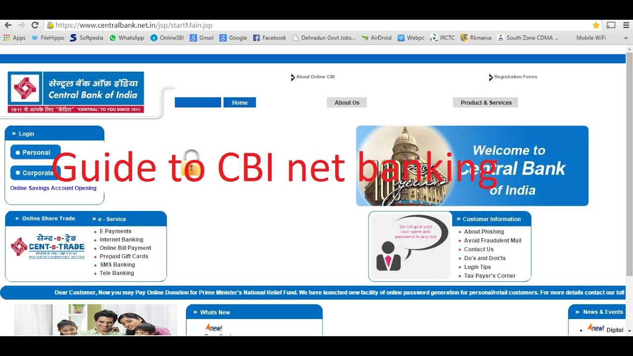 internet banking bank of india login