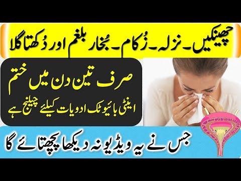 Flu Treatment    Cheenkain,Nazla,Zukaam,Bukhaar Balgham Aur Dukhkta Gala Best Ilaj In Hindi \ Urdu