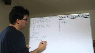 Odmocňování libovolného čísla - algoritmus Jak na to