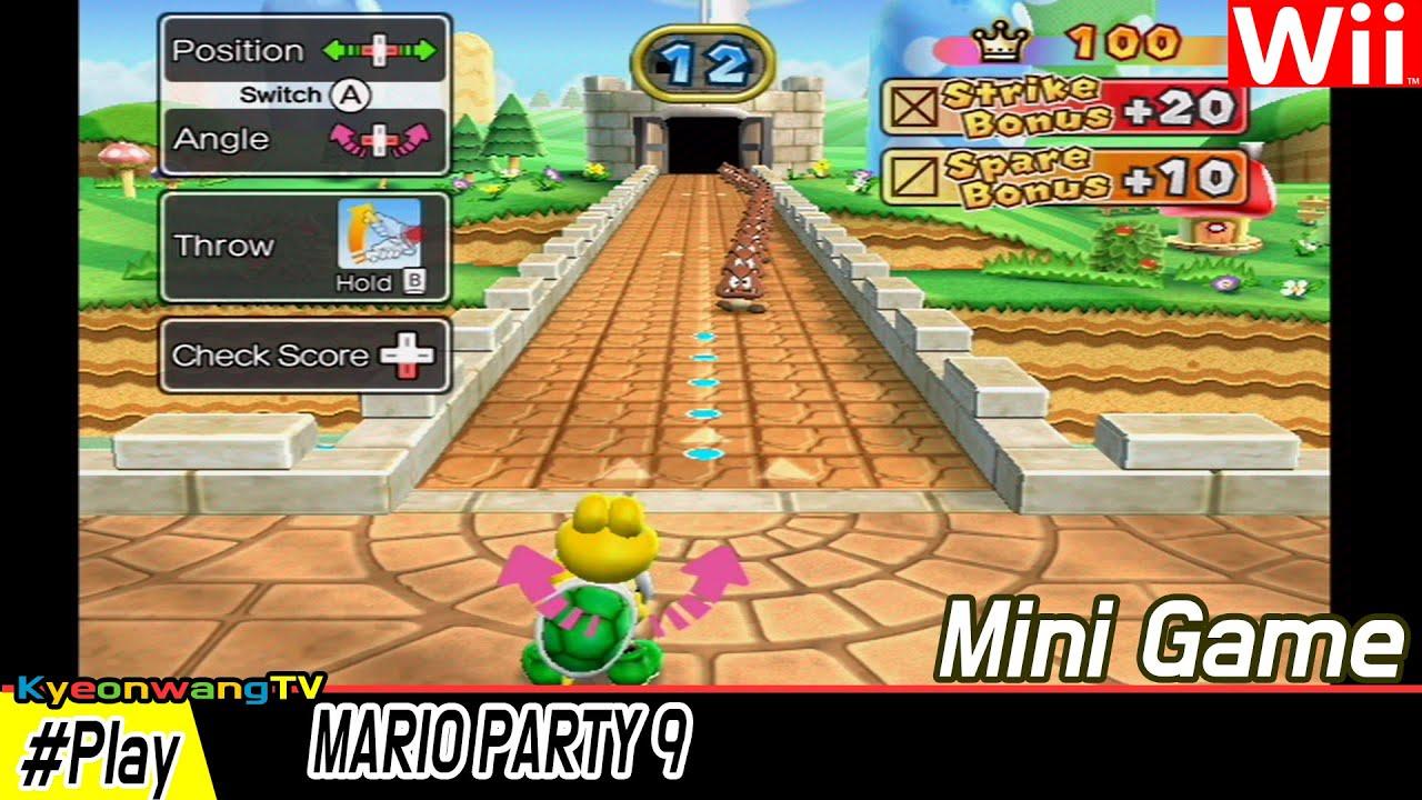 MARIO PARTY 9 (Goomba Bowling, #001 )Player Koopa vs Daisy vs Luigi vs Mario