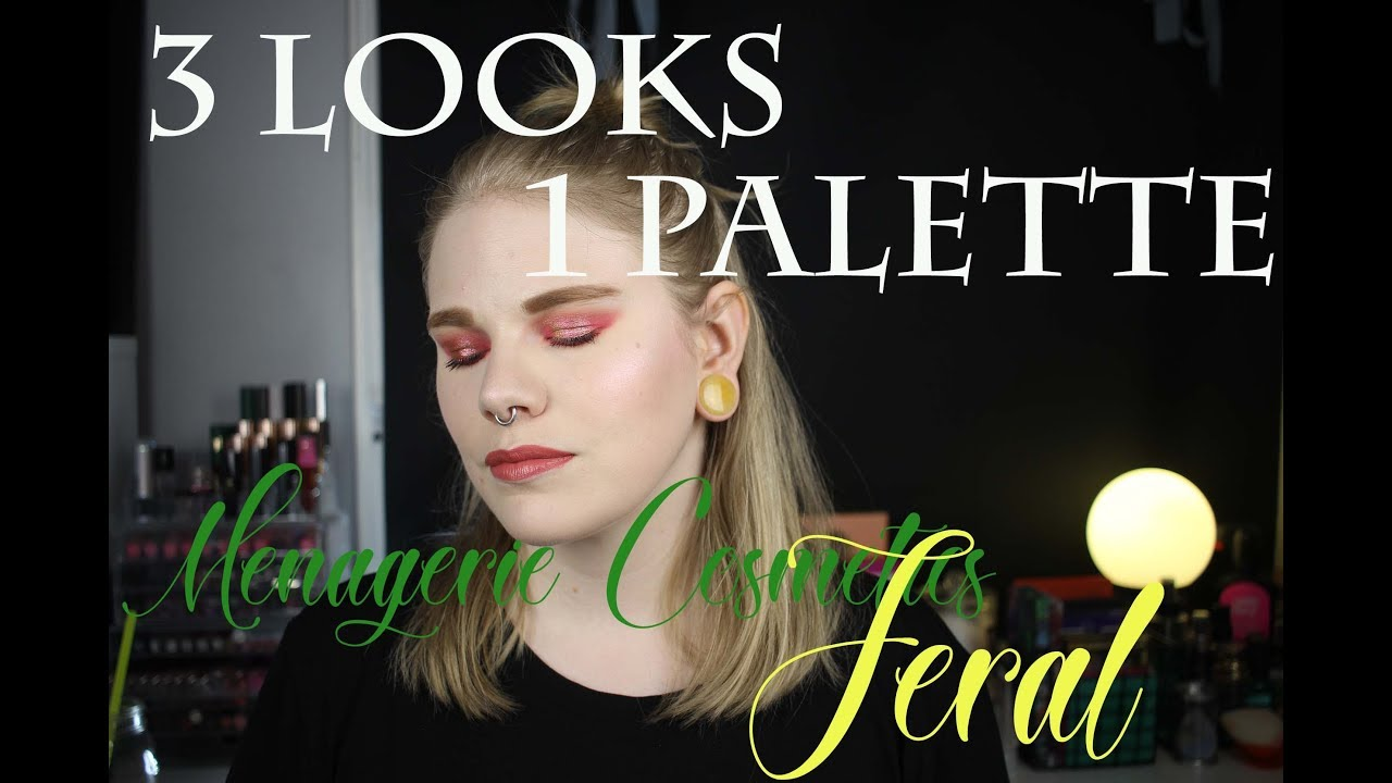 Download   3 Looks 1 Palette   Menagerie Cosmetics Feral   + Review  