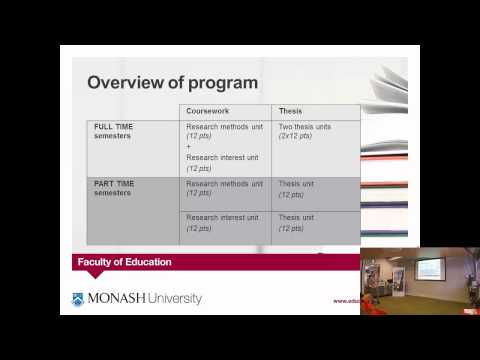 Bachelor of Education (Honours) at Monash University - 1 year course - information session