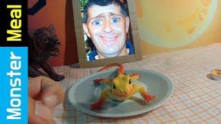 How to Eat A Wild Lizard  | Monster Meal ASMR Sounds | Kluna Tik Style Dinner No Talk