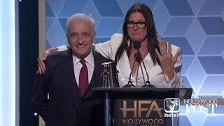 Martin Scorcese accepts award at Hollywood Film Awards
