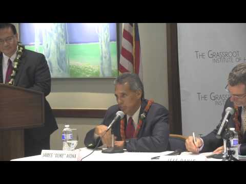 2014 Grassroot Institute Gubernatorial Forum at the Pacific Club on August 22, 2014