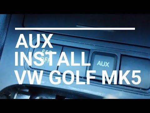 aux installation rcd-510 volkswagen golf 5 mk5 mkv mk6 rns-510 radio audio  jack 3 5mm